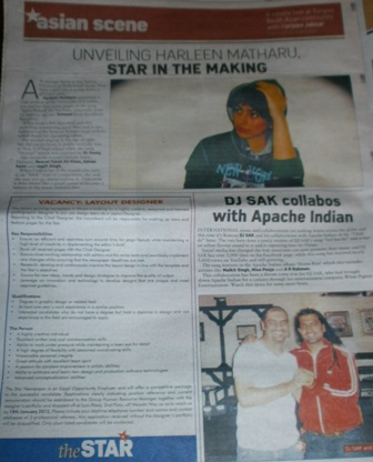 The Asian Scene, Star 10th January
