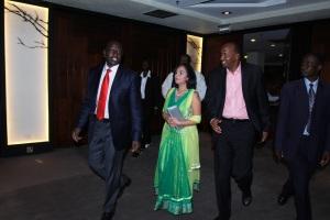 L to R Hon. William Ruto, Hon. Sunjeev Birdi, Hon. Aden Duale