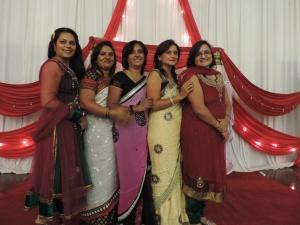 L to R Anita Gorasia, Parul Halai, Kanta Varsani, Vasanti Patel, Preetika Vekaria