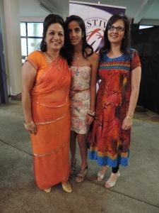 L to R Anjum Asodia, Alina Kurji, Shahida Pirani