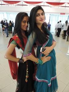 L to R Ayushi Patel, Faiza Sumra
