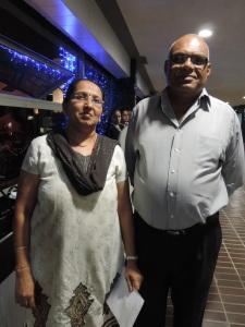 L to R Jaya Patel, Ashok Patel