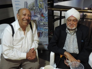 L to R Mr Anwar Fatehdin, Mr Harbans Singh Amrit