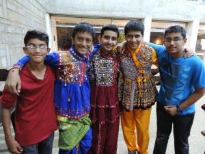 L to R Arpit Hitesh Mehta, Dhir Bhupendra Bid, Param Nandish Joshi, Manav Dilip Soni