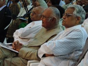 L to R Chunnibhai Haria, Navinbhai Shah, Chagganbhai Shah