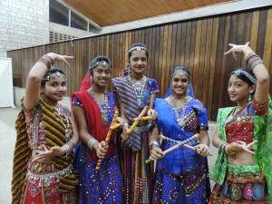 L to R Janvi Rajesh Haria, Janvi Bid, Malvi Bid, Ushmi Dinesh Gudka, Darshi Shah