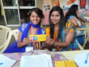 L to R Kajal Patel, Ruchita Haria
