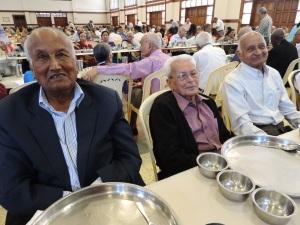 L to R Mohanbhai Karania, Dr Maghanbhai Chandaria, Hirjibhai Shah