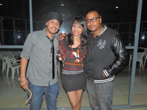 L to R Deepak Singh, DJ Paroma, Sunny Sharma