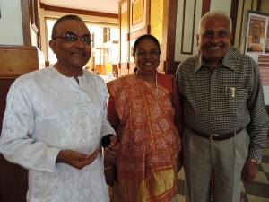 L to R Dinesh Shah, Anila Shah, Sobhag Shah