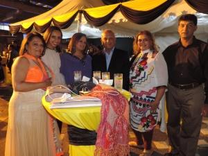 L to R Dolly Patel, Shreya Karia, Shreenal Patel, Kavita Amin, Hitesh Patel, Mayank Amin