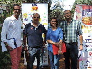 Judges- L to R Priyan Kolapara of Fairmont, Digesh Unia of Aramex, Harveen Jandu of Zucchini, Mandeep Renu of Bite Right