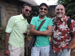 L to R Amar Ally, Shamsher Ali, Christopher Greco