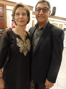 L to R Azmina Visram, Hon. Mr Justice Alnashir Visram