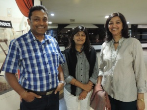 L to R Dipak Shah, Anupa Shah, Bharti Shah