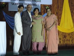 L to R Dr Minesh Shah, Vipul Shah, Urmila Shah, Chanda Shah