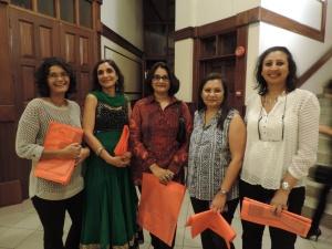L to R Mala Dodhia, Alka Dodhia, Nishma Shah, Meera Shah, Hardhika Shah