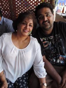 L to R Nana Vidyartahi, Arjun Vidyarthi