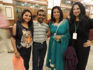L to R Nisha Shah, Piyush Shah, Jasmine Postwalla, Sadia Ahmed