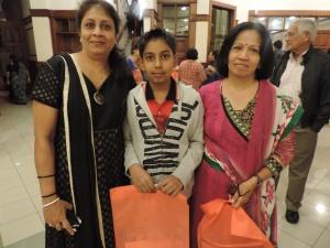 L to R Nita Shah, Bhavya Shah, Priti Thakkar