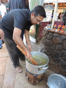 Roop Ruparel cooks up Chicken at the Jameson Banda