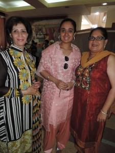 L to R Amarjeet Matharu, Sheena Sehmi, Chinder Sehmi