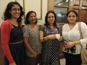 L to R Ashmi Haria, Rita Haria, Jyoti Shah, Sonam Shah