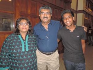 L to R Avni Shah, Jayesh Shah, Viraj Shah