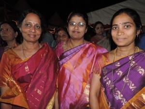 L to R Bala Rao, Lakshmi Kishor, Sridevi Raj