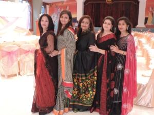 L to R Bhavna Rajani, Harsha Ruparelia, Kalpana Raitatha, Riddhi Modi, Sejal Chudasama