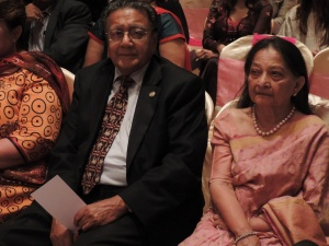 L to R Dr Manu Chandaria, Aruna Chandaria