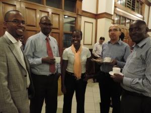 L to R Gerald Gitome, Peter Mungai, Virginia Gitome, Dhiren Sheth, Joseph Mwangi