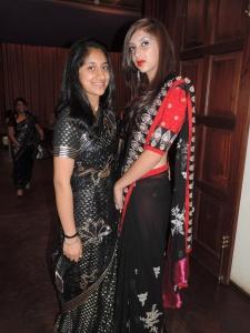 L to R Harveen Kaur, Afreen Daud