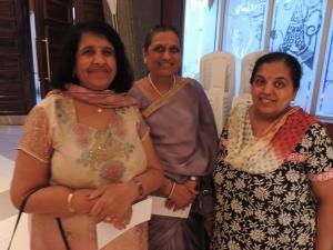L to R Kailesh Shah, Chandan Malde, Bharti Raja (Oshwal Mahila Mandal)