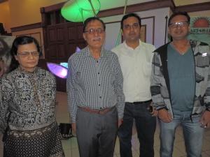 L to R Kalpana Kanani, Kirit Kanani, Kunal Patel, Pradeep Vats