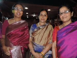 L to R Lata Srinivasan, Manju Sabesan, Lakshmi Ravikumar