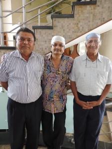 L to R Laxmanbhai Devshi, Jagdish Dixit, Dhiru Lakhani