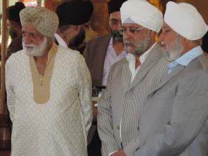 L to R Mohinder Singh Vohra, Jagat Singh Ahluwalia, Dhillon Singh