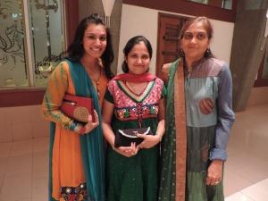L to R Trupty Patel, Anjana Patel, Sejal Patel