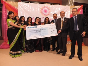Lions Sightfirst Eye Hospital receives donation from Lohana Ladies Circle