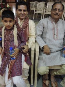 L to R Dhruvial Thakkar, Shashi Thakkar, Pradeep Thakkar