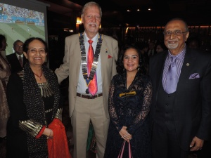 L to R DP CJ Kalpana Rawal, Past President David Hastie, Hon. Sonia Birdi, MP, Mr Hasmukh Rawal