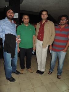 L to R Gurmeet Singh, Santosh Kumar, Jeetendra Sharma, Krishna Raju