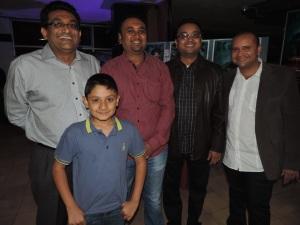 L to R Hirji Valji, Jayendra Vagjiani, Gopal Vagjiani, Hitesh Dave, (Kid) Dhanesh Valji