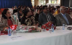L to R Hon Sunjeev Kaur Birdi MP, Mrs Rekha Kochhar (Director HCK Women's Wing), Nitin Malde (Current Chairman HCK), Swaran Verma (Former Chairman HCK)