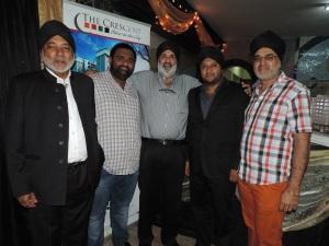 L to R Manjit Singh, Chamkaur Singh, Bahadur Singh, Pali Matharu, Inder Bhachu