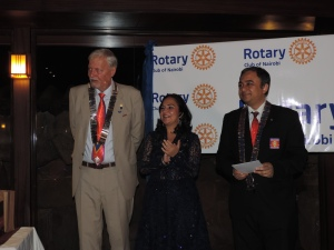 L to R Past President David Hastie, Hon. Sonia Birdi, MP, DG Bimal Kantaria