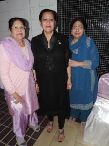 L to R Raksha Channe, Oshwinder Matharu, Harjinder Bahra