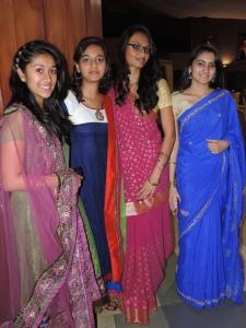 L to R Rushali Patel, Radhika Patel, Avni Patel, Sheetal Tailor