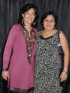 L to R Seema Bhachu, Nishi Raja